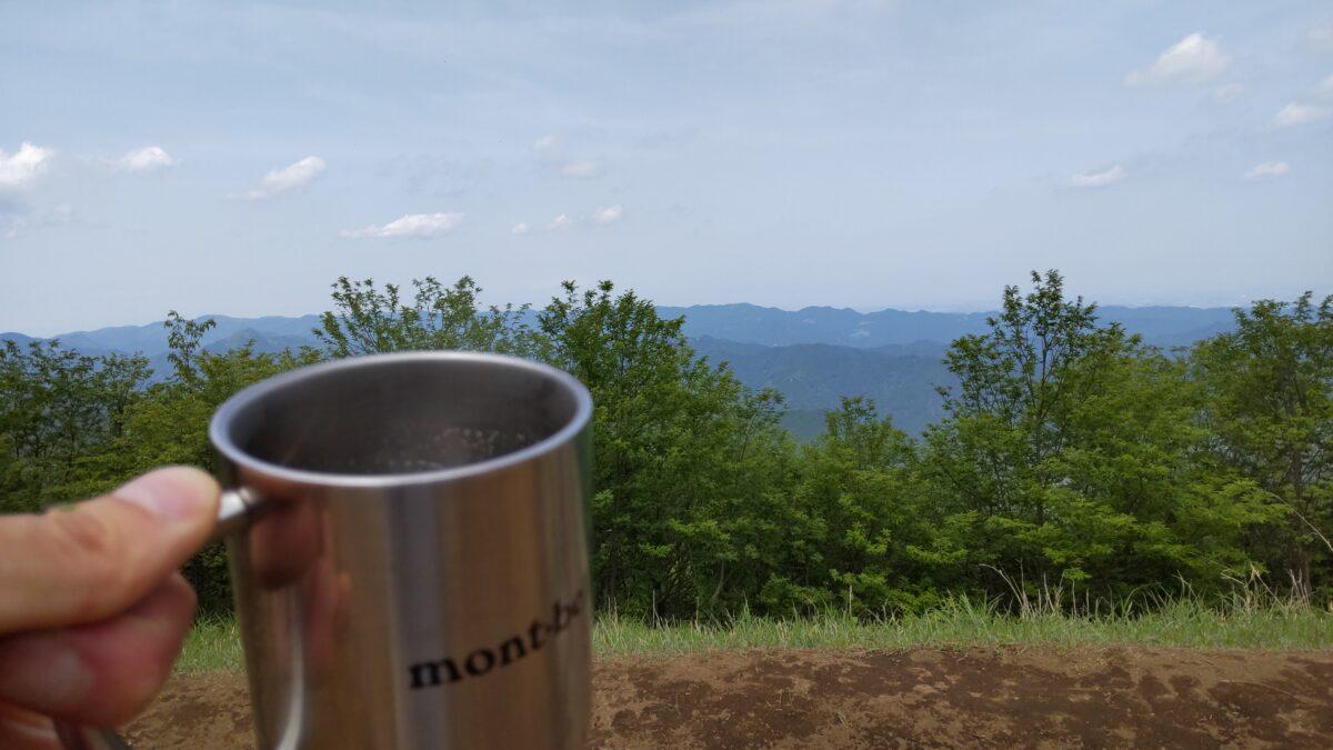 棒ノ折山山頂でのコーヒータイム