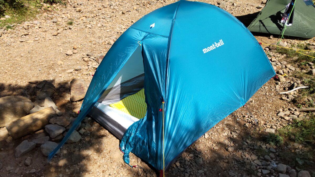 赤岳鉱泉のテント場に張ったマイテント