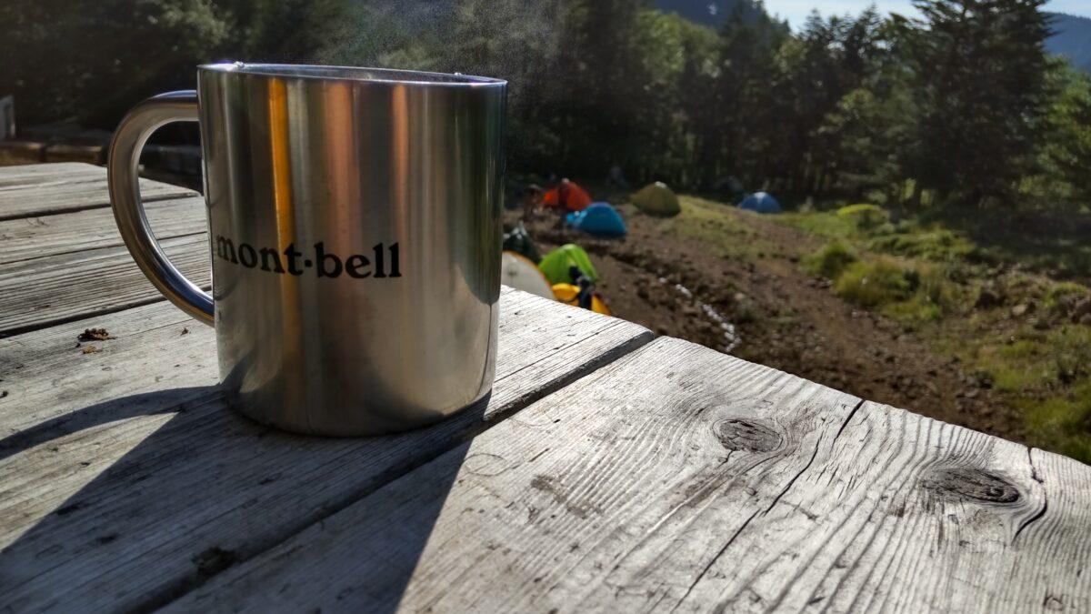 赤岳鉱泉で飲むコーヒー