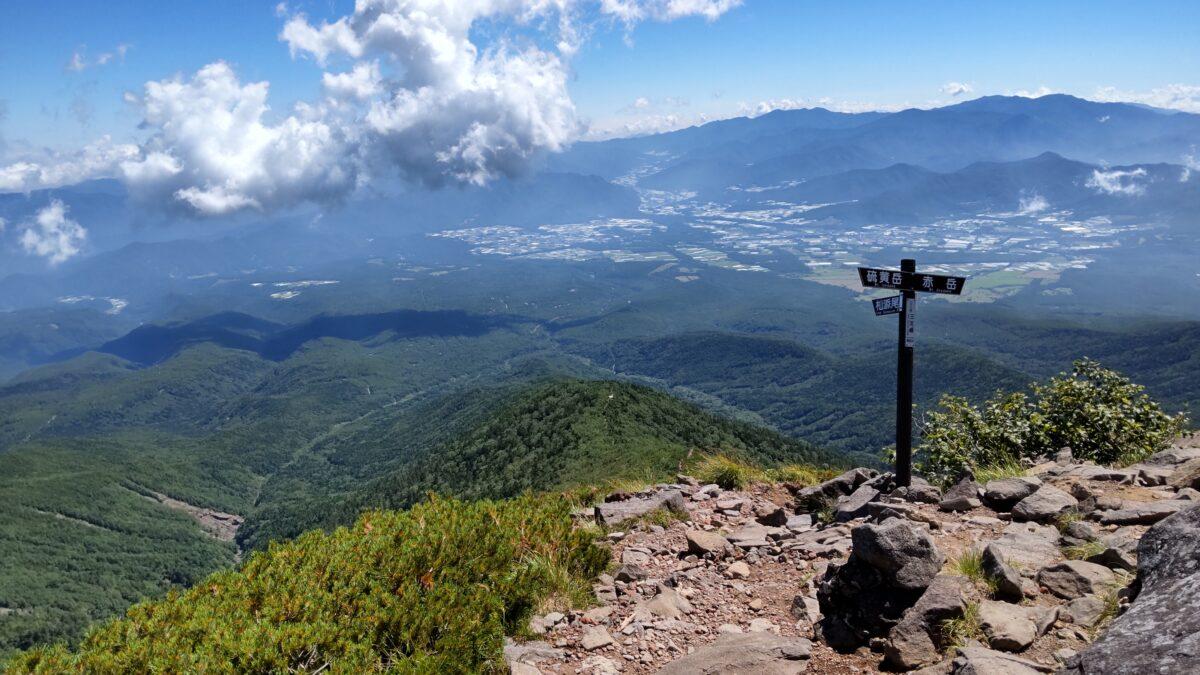 杣添尾根へのルートが分岐する三叉峰
