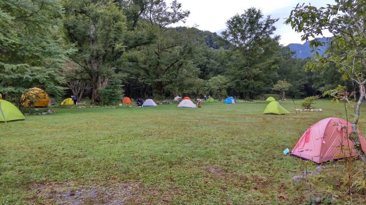 朝の徳澤キャンプ場