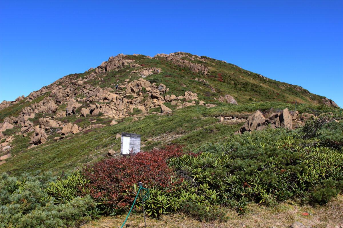 穏やかな山容の至仏山
