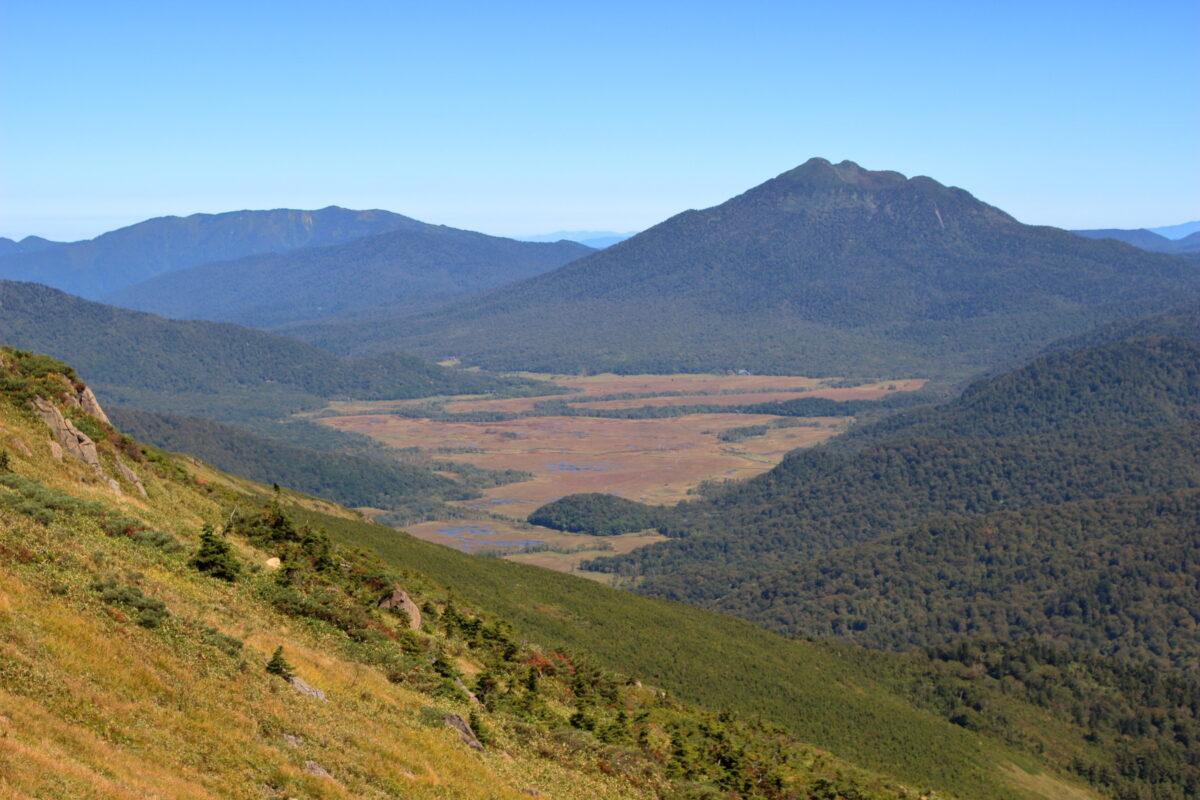 尾瀬ヶ原と燧ヶ岳の絶景