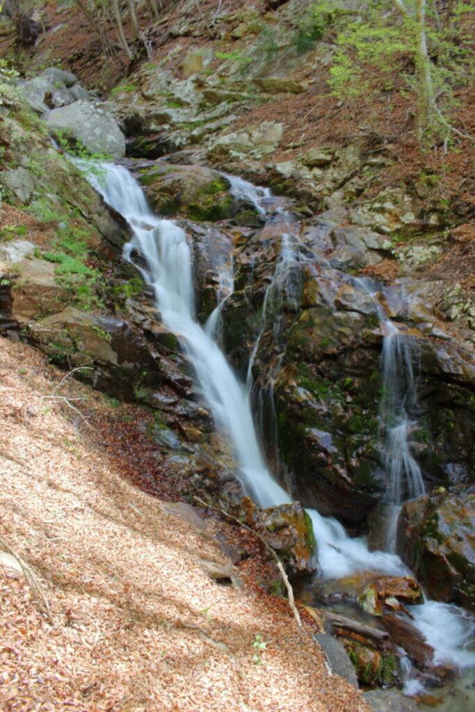 すみ沢沿いの大きな滝