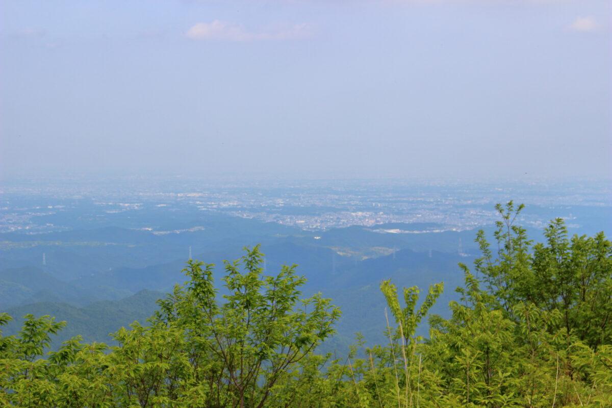 棒ノ折山山頂から所沢や狭山の街並みを望む!