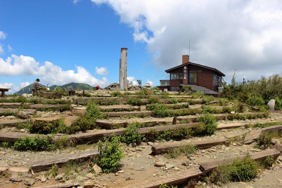塔ノ岳の広い山頂