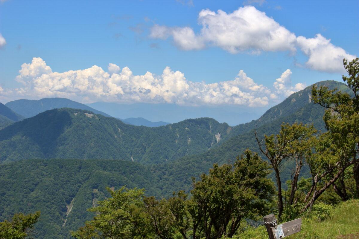 塔ノ岳山頂からの丹沢の山々
