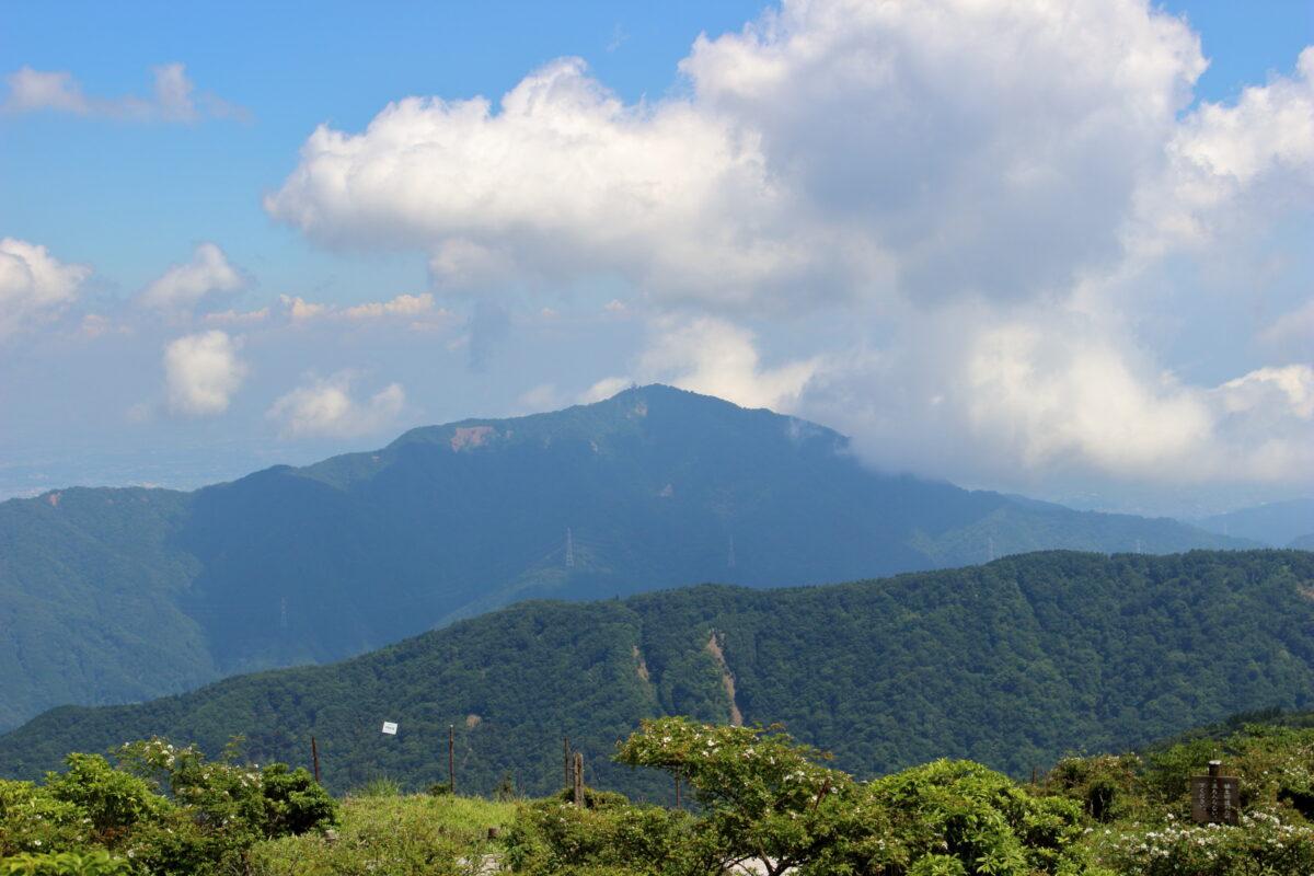 丹沢山~塔ノ岳の尾根道から眺める大山