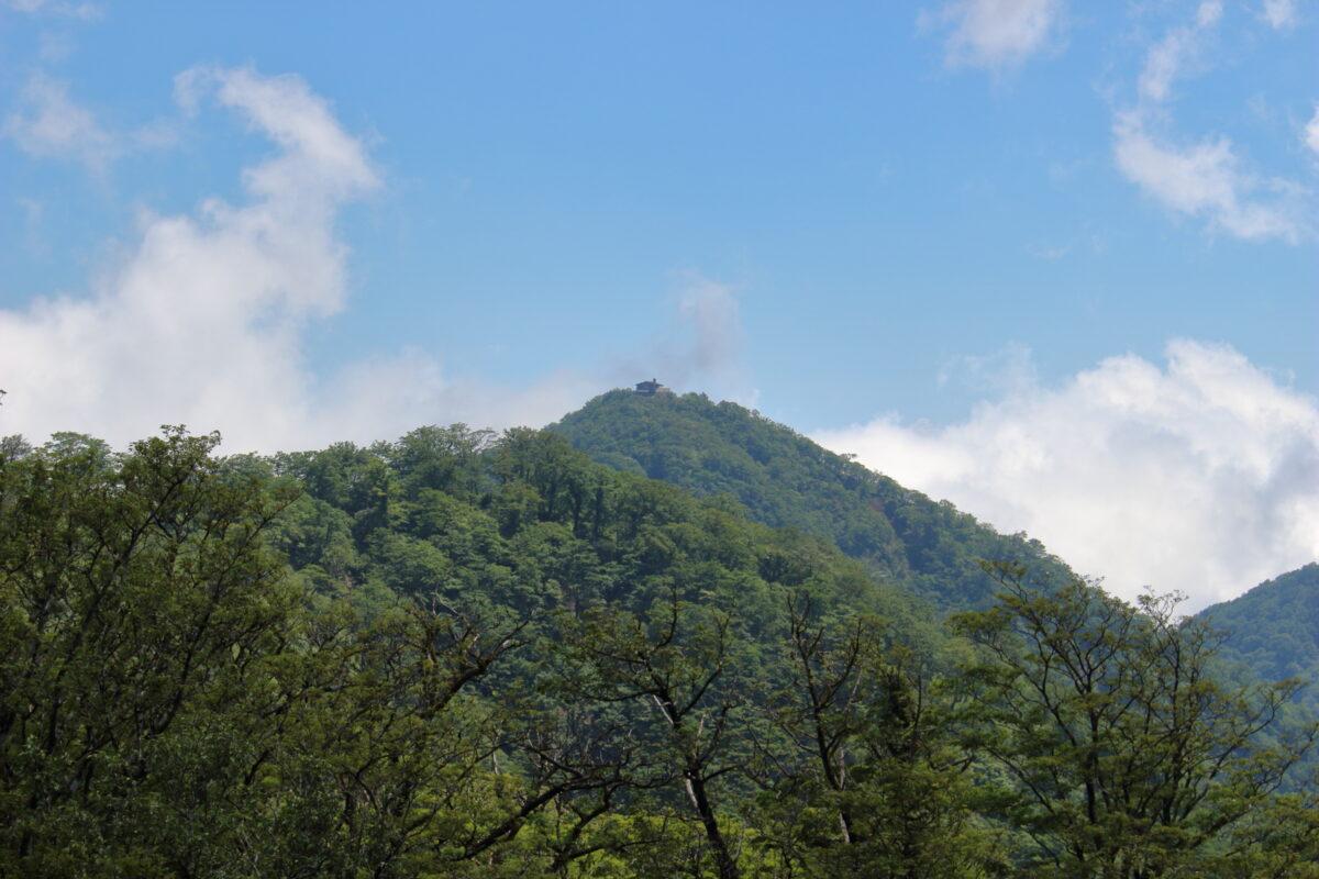 尾根道から眺める塔ノ岳山頂