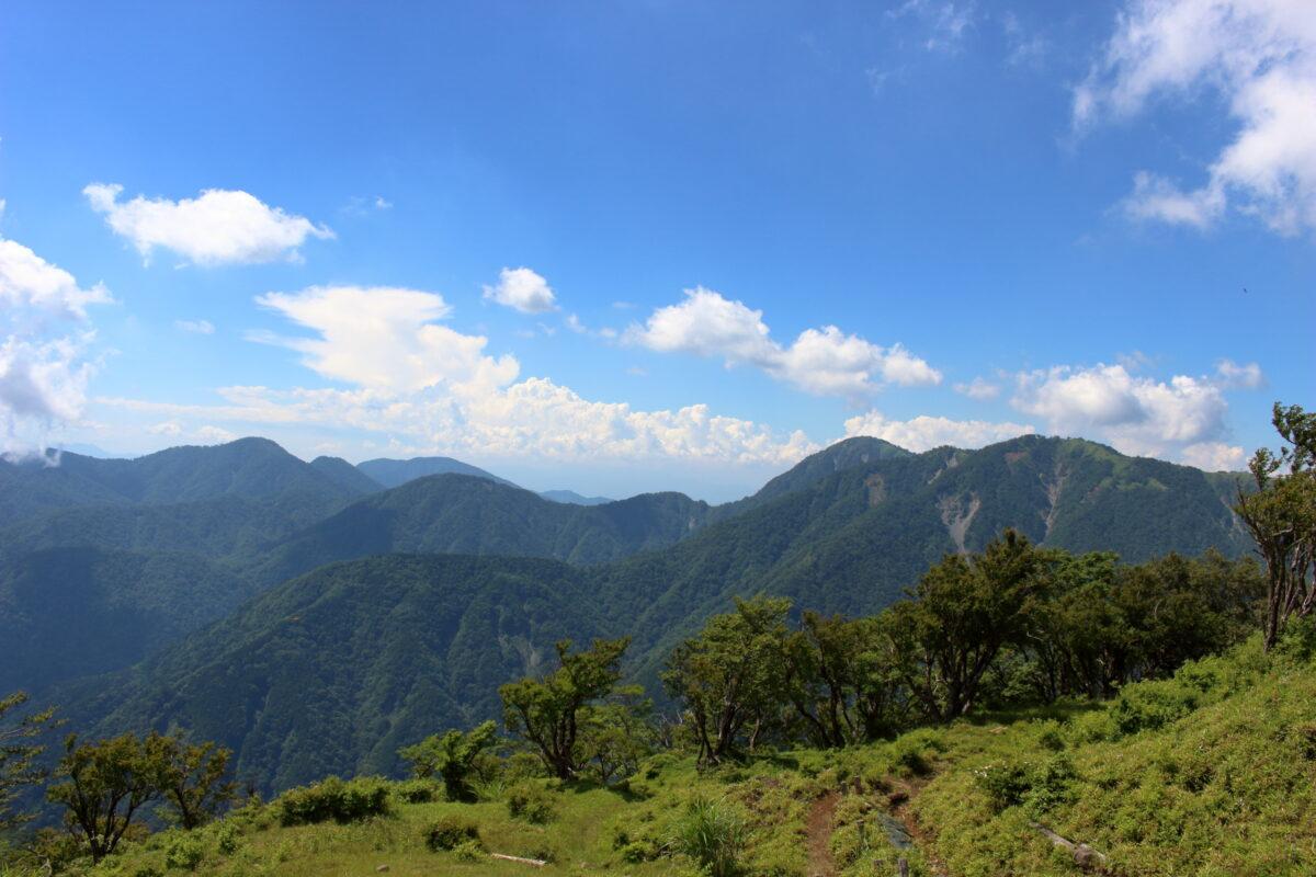 塔ノ岳山頂からの景色