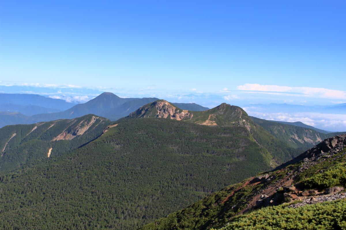 硫黄岳の稜線からの絶景