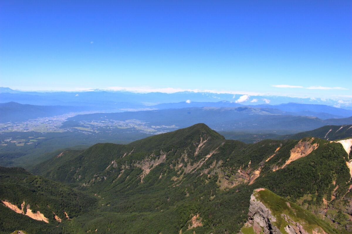 横岳山頂からの西側の眺望