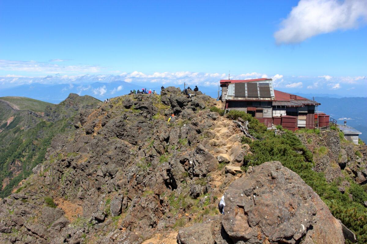 赤岳北峰にある赤岳頂上山荘