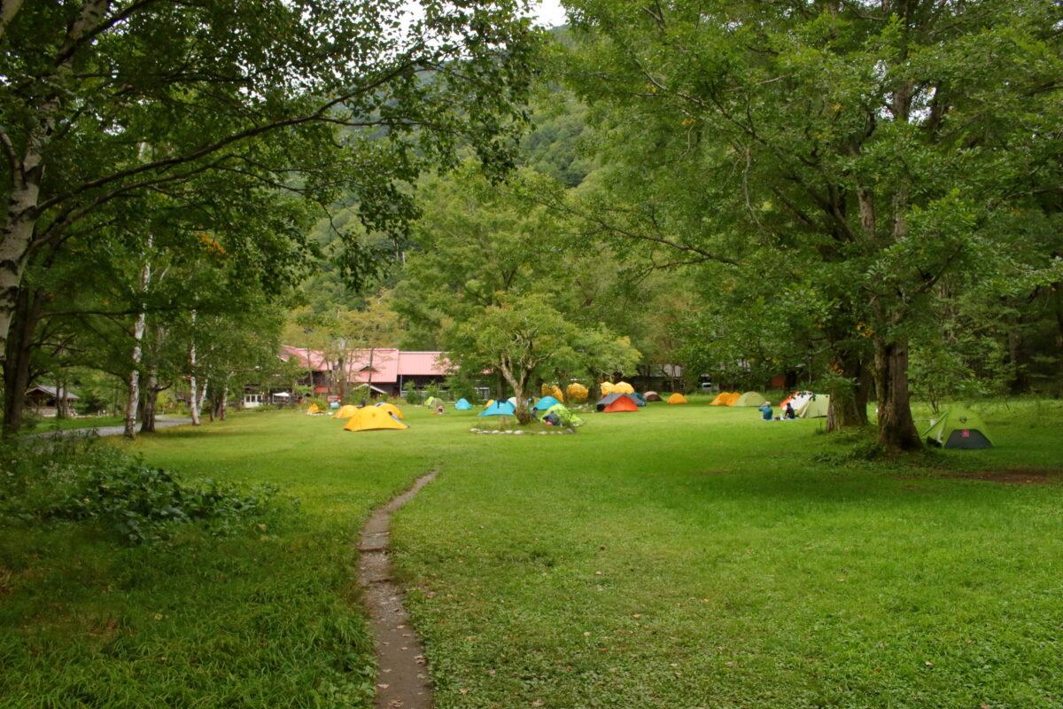 徳澤園のキャンプ場