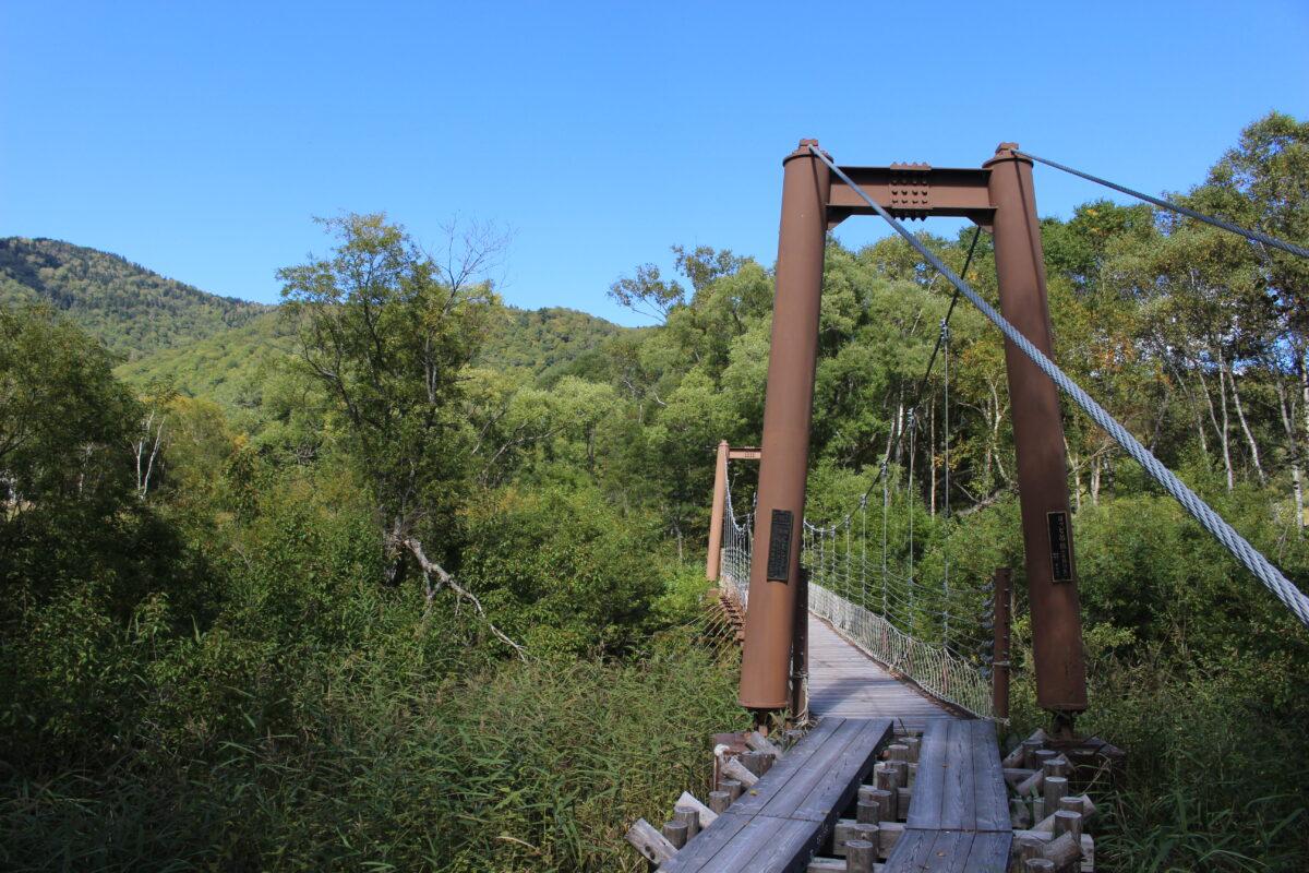ヨッピ川を渡る「ヨッピ吊り橋」